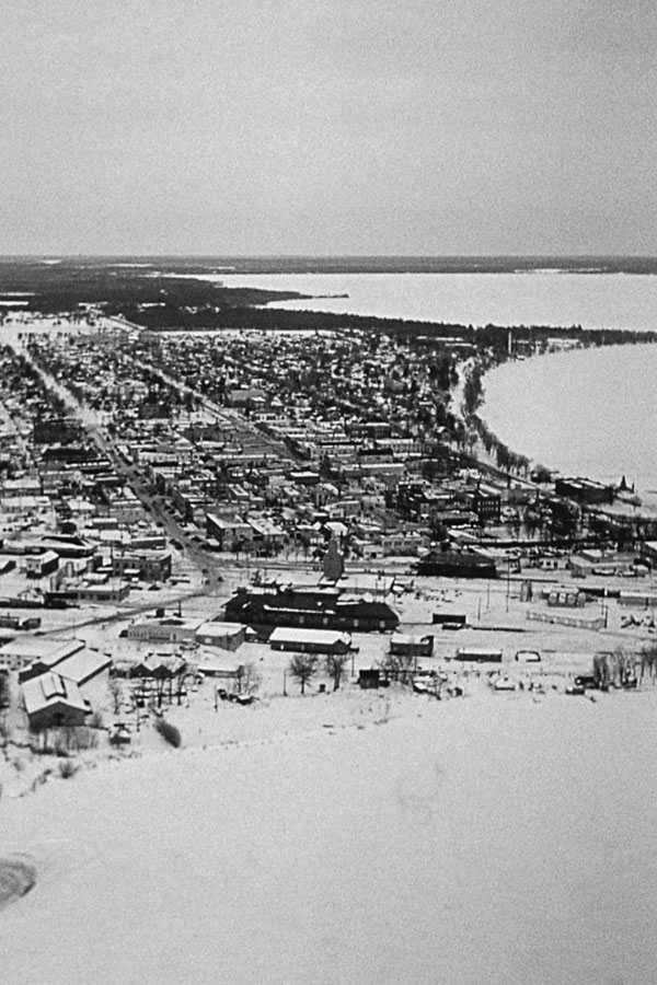 Aerial View of Bemidji from South